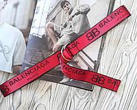 Тканевый ремень в стиле Balenciaga красный, фото 1