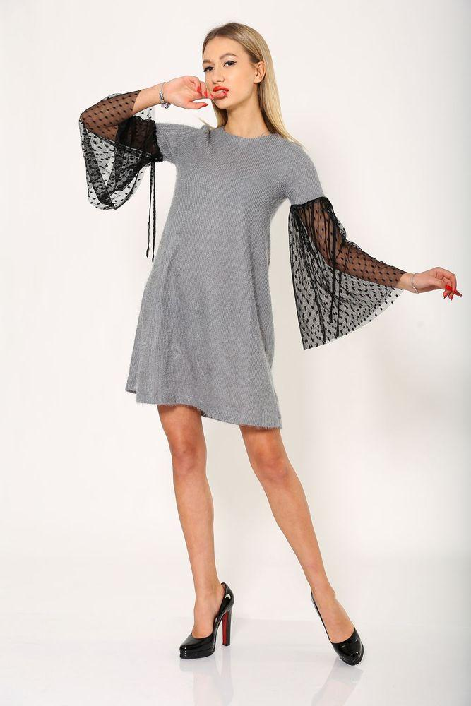 Платье 115R072 цвет Серый