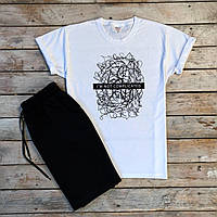 Чоловіча футболка біла принт I am not, S,M,L,XL / мужская белая футболка з принтом