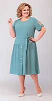 Платье Асолия-2471 белорусский трикотаж, светлая бирюза, 52, фото 1