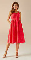 Платье Andrea Fashion-AF-16/4 белорусский трикотаж, коралл дизайн 3, 42, фото 1