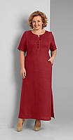 Платье Диамант-1287/1 белорусский трикотаж, красный, 52