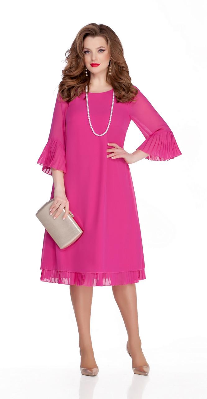 Платье TEZA-250/5 белорусский трикотаж, розовый, 50