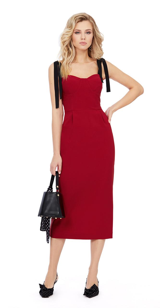 Платье PiRS-962 белорусский трикотаж, бордо, 40