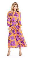 Платье PiRS-974/1 белорусский трикотаж, оранжевый, 40
