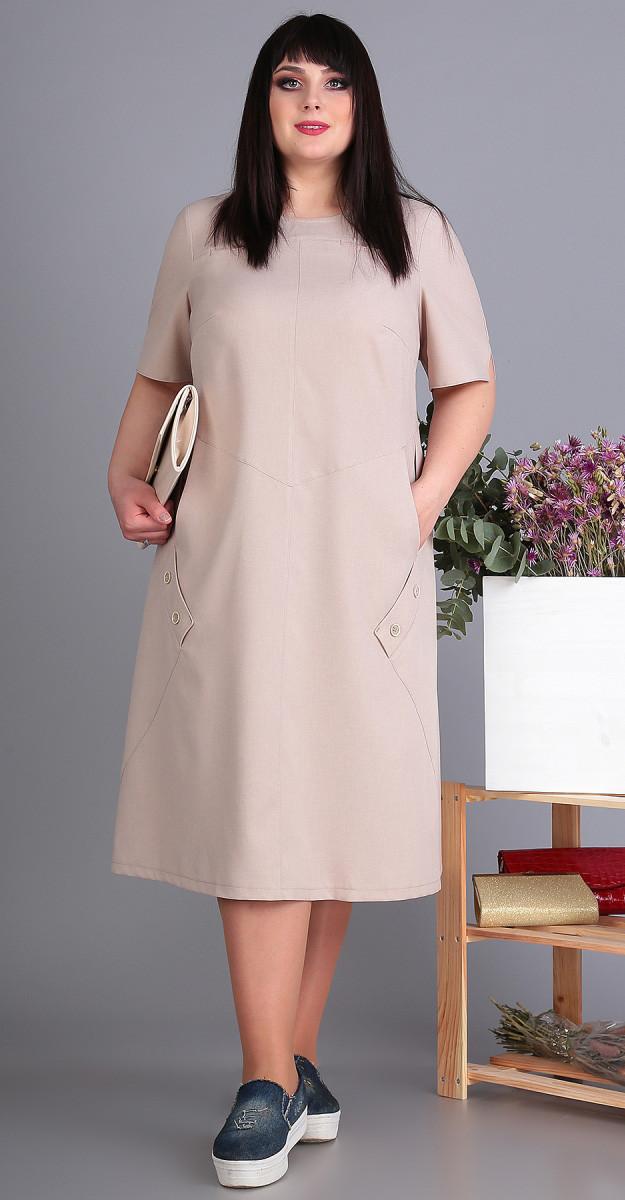 Платье Novella Sharm-3498 -2 белорусский трикотаж, бежевый, 60