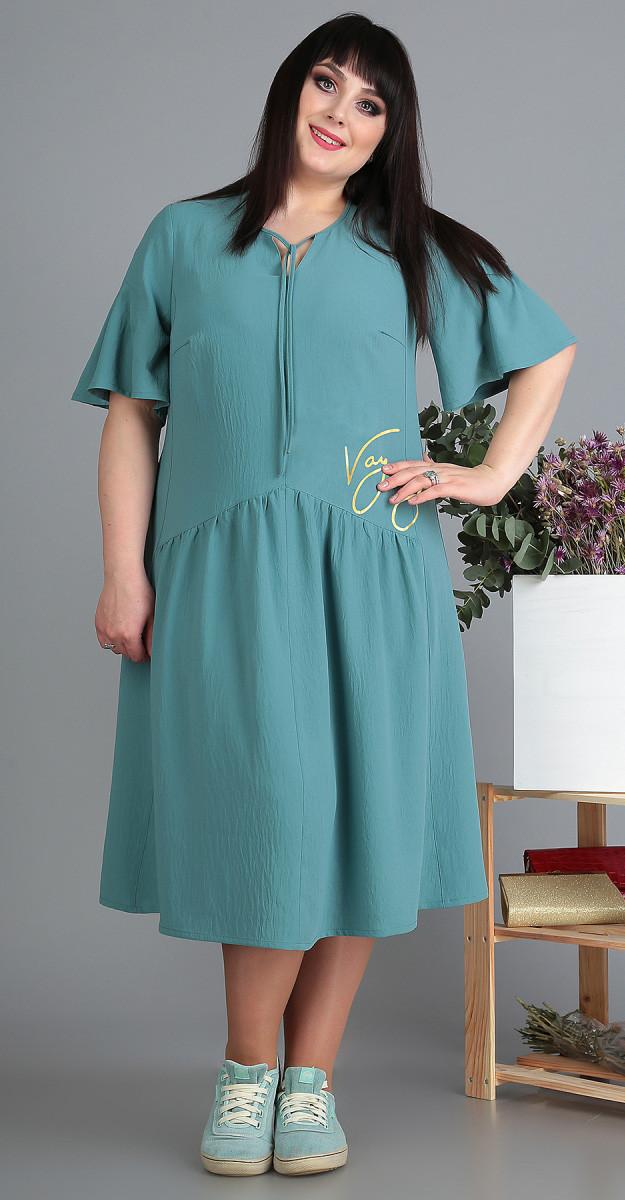 Платье Novella Sharm-3499 белорусский трикотаж, бирюза, 60