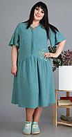Платье Novella Sharm-3499 белорусский трикотаж, бирюза, 60, фото 1