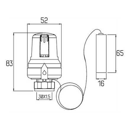 Термоголовка Icma 30х1,5 з виносним датчиком №995, фото 2