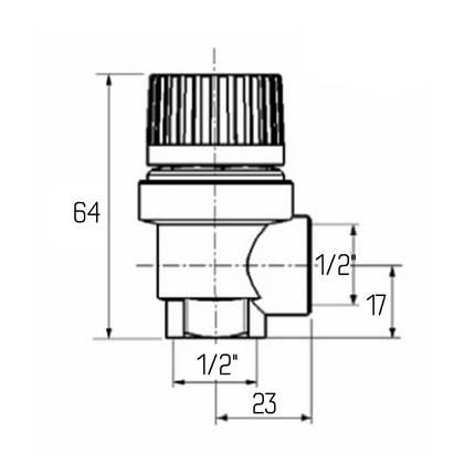 """Запобіжний клапан Icma 1/2"""" ВР 1,5 бар №241, фото 2"""
