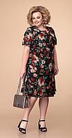 Платье Romanovich-1-1220 белорусский трикотаж, черный, 54