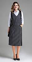 Платье Panda-450680 белорусский трикотаж, серо-черный, 48