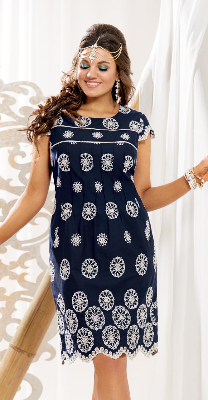 Платье Vittoria Queen-11193 белорусский трикотаж, темно-синий, 46