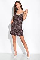 Ночная сорочка женская 107P4-2 (Черно-молочный/принт), фото 1