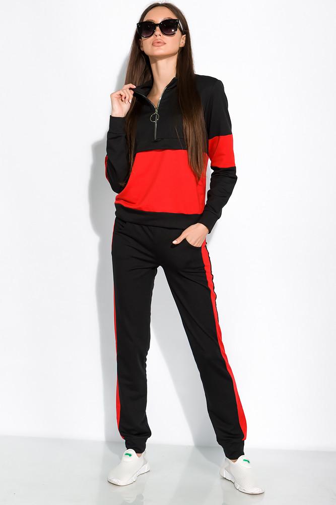 Спортивный костюм с лампасами 151P164 (Черно-красный)