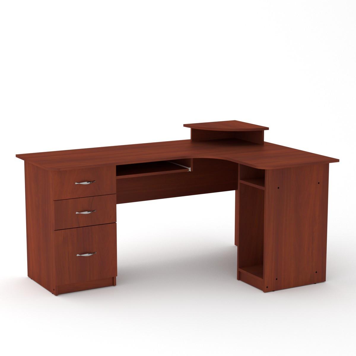 Компьютерный стол угловой с 4 ящиками из ДСП