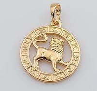 Кулон Знак Зодиака Лев, медицинское золото, медзолото 18К