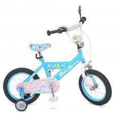 Велосипед детский PROF1 14д. L14133 Butterfly 2,голубой
