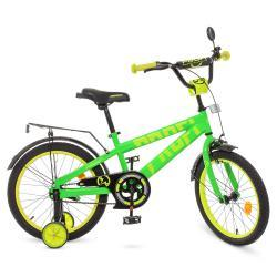 Велосипед детский PROF1 18д. T18173 (1шт) Flash,салатовый,звонок,доп.колеса