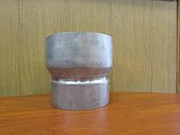 Переходник из нержавеющей стали для дымоходных труб из 321 стали толщиной 1 мм, диаметр 130/150мм