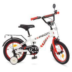 Велосипед детский PROF1 14д. T14154 Space,бело-красный