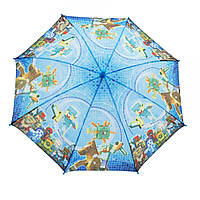 Зонтик детский  Майнкрафт голубой