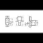 Унитаз (чаша напольного унитаза) Roca ACCESS A342236000, фото 5