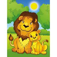 Картина по номерам для детей - Львята. 18х24. На холсте с подрамником. Идейка