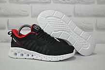 Летние подростковые черные кроссовки сетка набелой подошве Baas для бега, повседневные