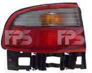 Фонарь задний для Toyota Carina E седан '92-97 левый (DEPO) внешний, бело-красный