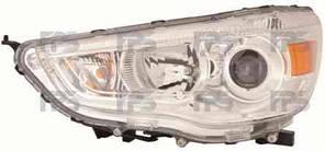 Фара передняя для Mitsubishi ASX '10- правая (DEPO) под электрокорректор