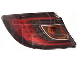 Фонарь задний для Mazda 6 хетчбек/седан '08-10 правый (DEPO) внешний, красный Led