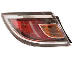 Фонарь задний для Mazda 6 хетчбек/седан '10-12 правый (DEPO) внешний, красный