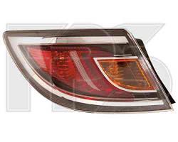 Фонарь задний для Mazda 6 хетчбек/седан '10-12 левый (DEPO) внешний, красный
