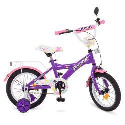 Велосипед детский PROF1 14д. T1463 Original girl,фиолетово-розовый