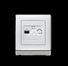 Розетка компьютерная, Erste Triumph, белый Erste