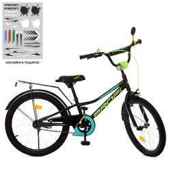 Велосипед детский PROF1 20д. Y20224 (1шт) Prime,черный (мат),звонок,подножка