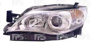 Фара передняя для Subaru Impreza '07-11 правая (DEPO) хромированный отражатель под электрокорректор