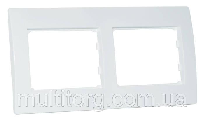 Рамка SVEN SE-200 двухместная белая