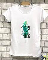 Красивая женская футболка с принтом Enjoy the little things