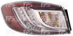 Фонарь задний для Mazda 3 седан '09-13 левый (DEPO) внешний, Led