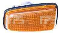 Указатель поворота на крыле Peugeot Partner '97-08 левый/правый, желтый (DEPO)