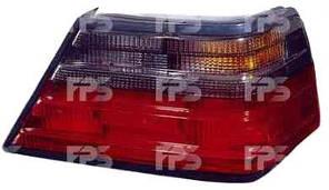 Фонарь задний для Mercedes E-Class W124 '84-96 левый (DEPO) красно-дымчатый, желтая вставка
