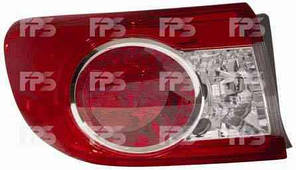 Фонарь задний для Toyota Corolla '10- левый (DEPO) внешний