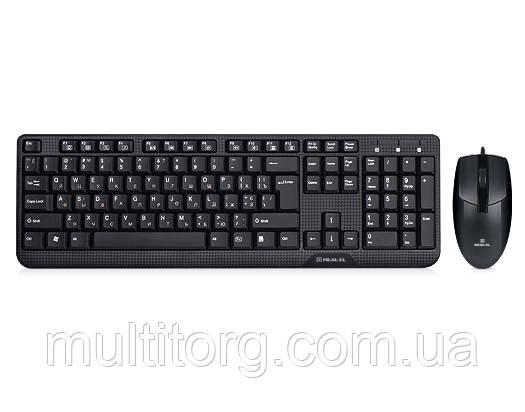 Клавиатура + мышка REAL-EL Standard 505 Kit черные