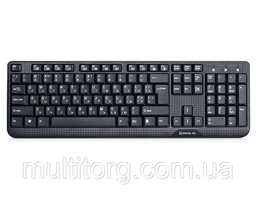 Клавіатура REAL-EL Standard 500 PS/2 чорна