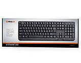 Клавіатура REAL-EL Standard 500 PS/2 чорна, фото 2