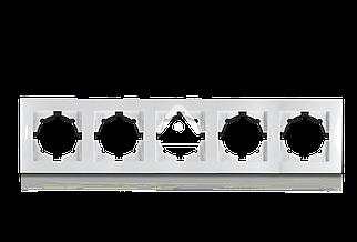 Рамка пятимесная универсальная горизонталь/вертикаль, Erste Triumph, белый Erste