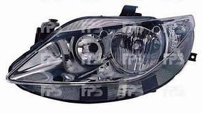 Фара передняя для Seat Ibiza '08- левая (DEPO) хромированный отражатель H7+H7 под электрокорректор
