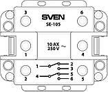 Выключатель SVEN SE-105 проходной  двойной кремовый, фото 4